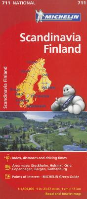 Michelin Map 711 Scandanavia, Finland By Michelin Travel & Lifestyle (COR)